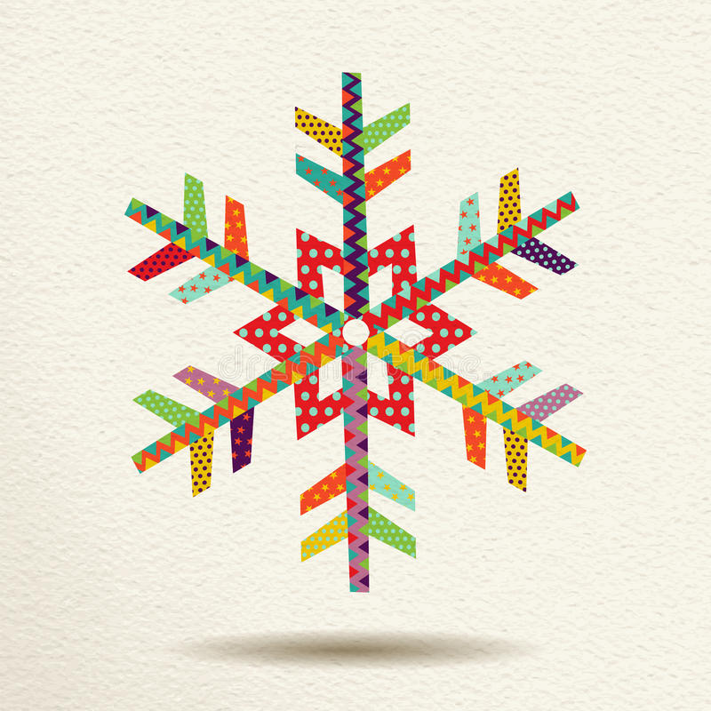 Christmas snow in colorful geometric art style stock photography