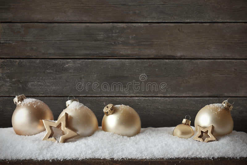 Christmas snow dark wood background royalty free stock images