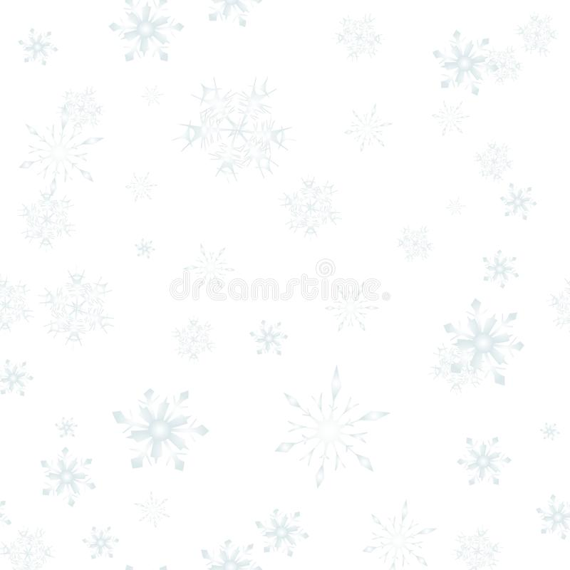 Christmas Snow flakes seamless pattern isolated royalty free illustration