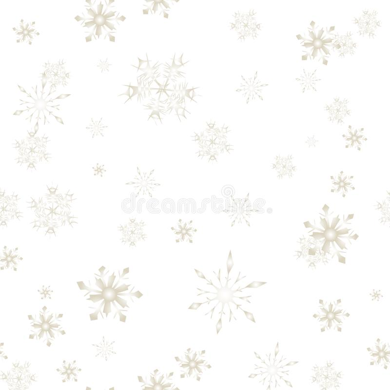 Christmas Snow flakes seamless pattern isolated stock illustration
