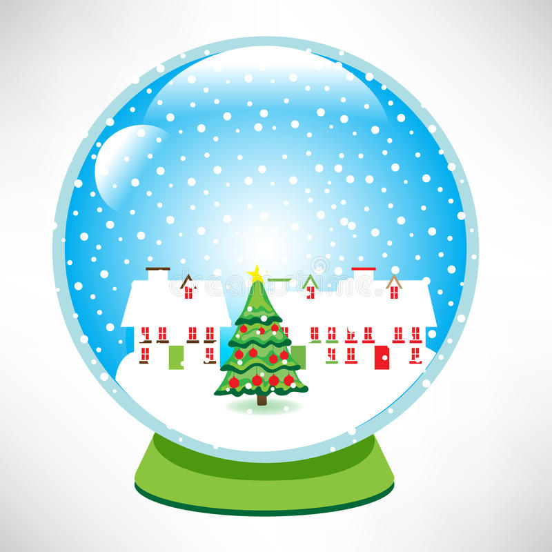 Download Christmas snow globe stock vector. Illustration of copy - 21542271