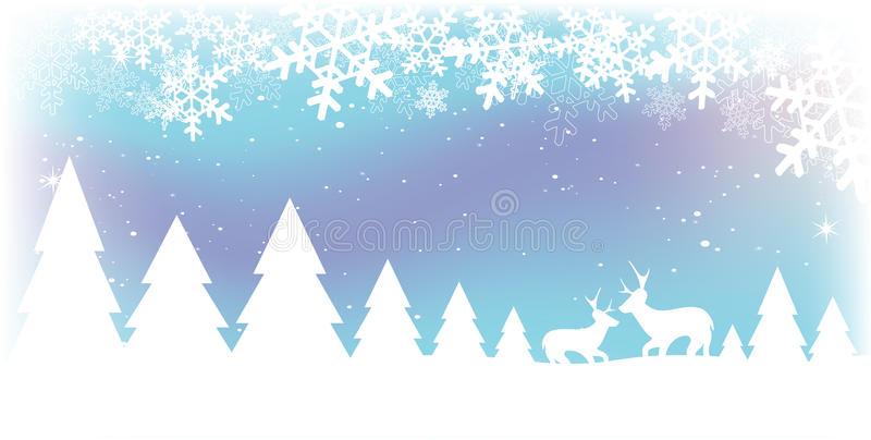 Christmas Snow Scene vector illustration