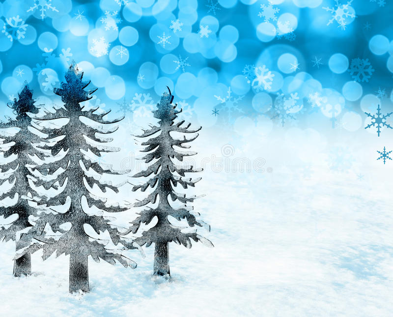 Download Christmas snow scene stock image. Image of flakes, scene - 22150119