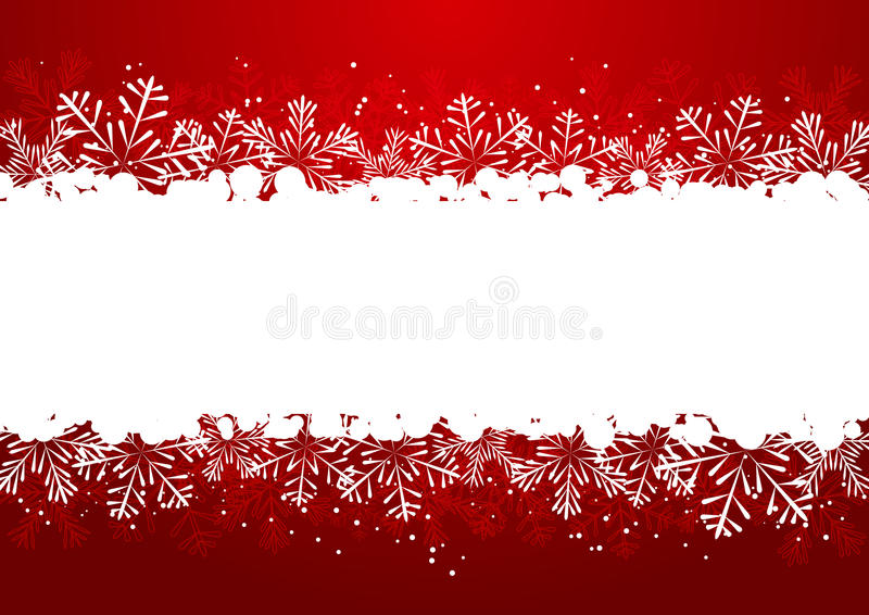 Christmas snowflake border stock illustration