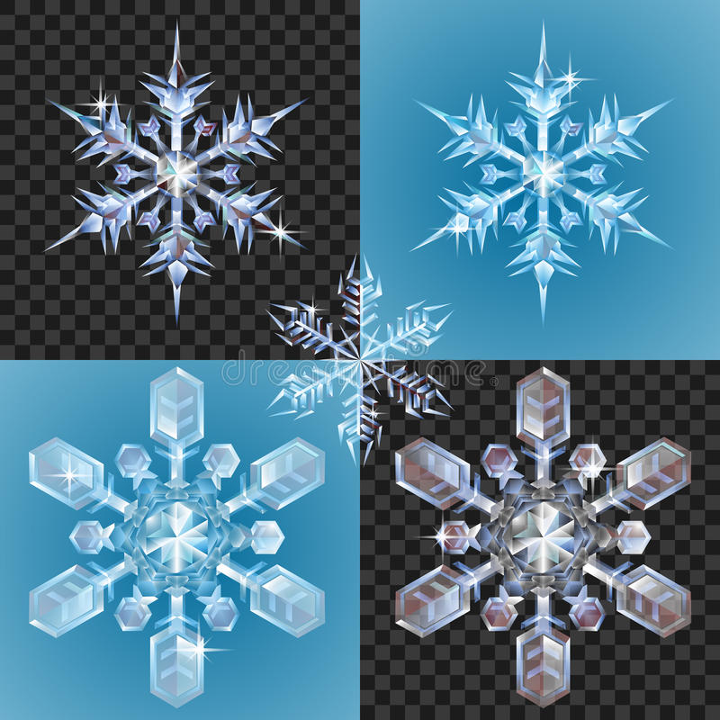 Christmas Snowflake Design Elements Stock Images