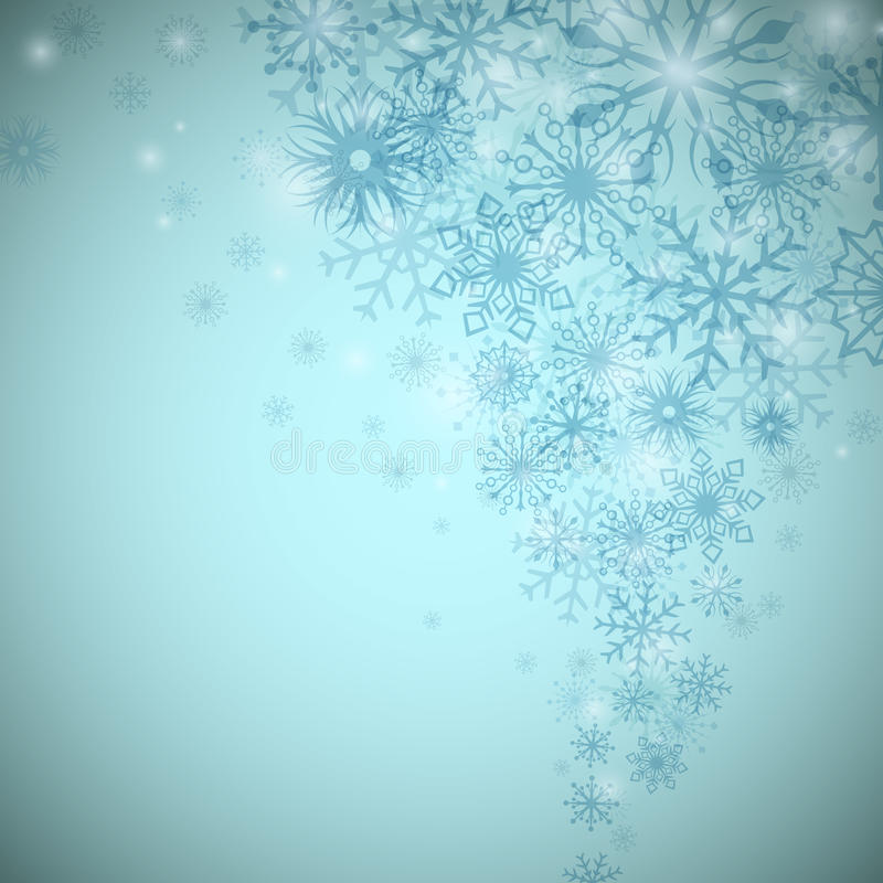 Christmas snowflake flow. Background with copy space royalty free illustration