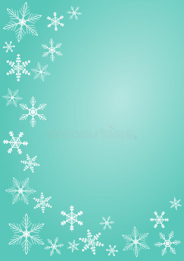Christmas Snowflake Greeting Card Royalty Free Stock Photography