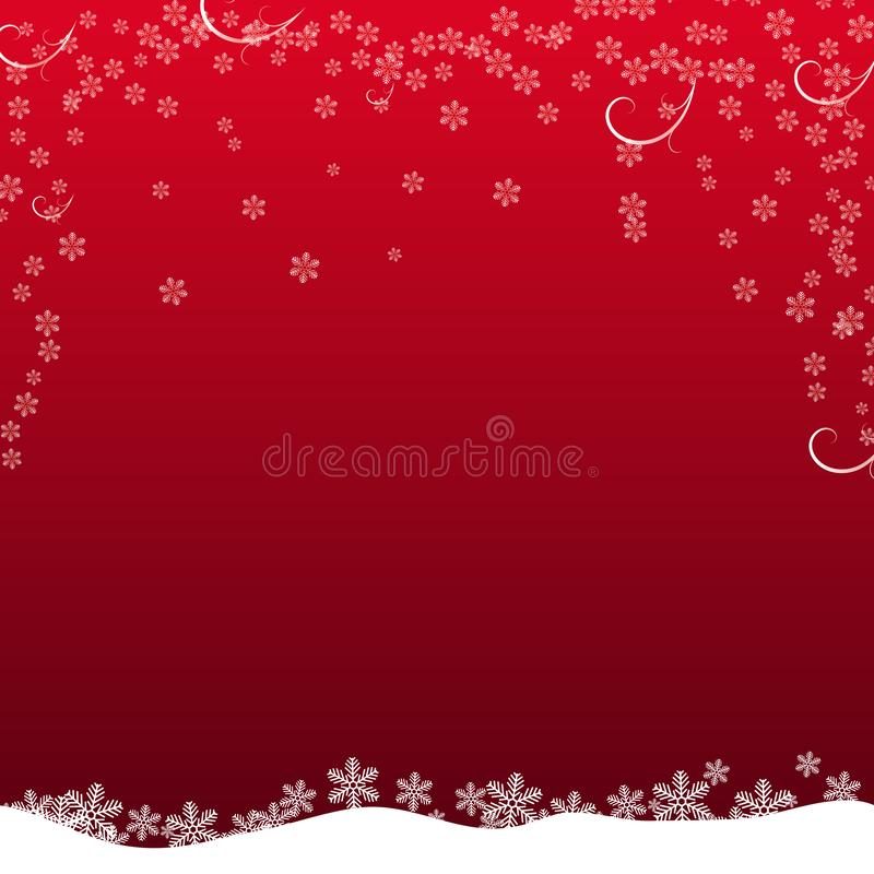 Christmas snowflake with night star light and snow fall abstract bakcground vector illustration eps10 royalty free illustration