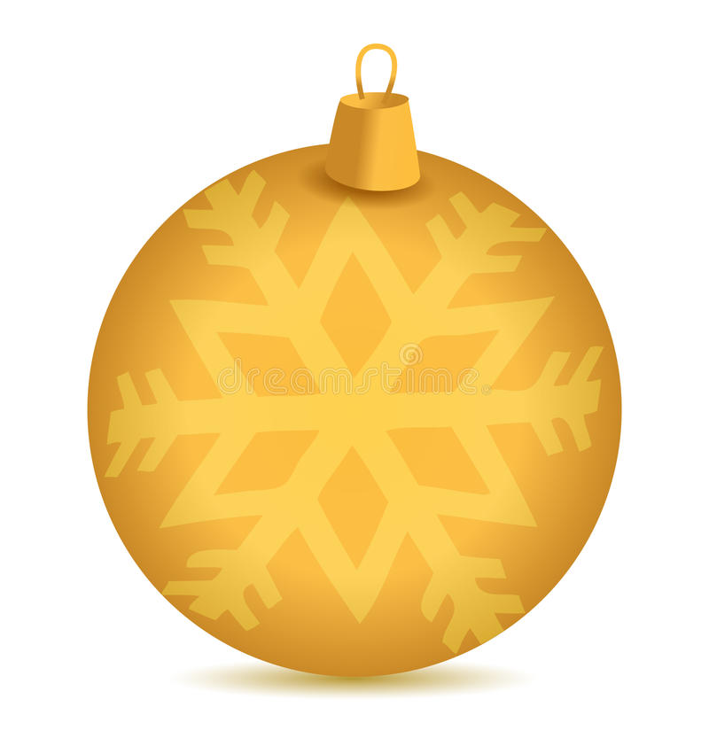 Christmas snowflake ornament vector illustration
