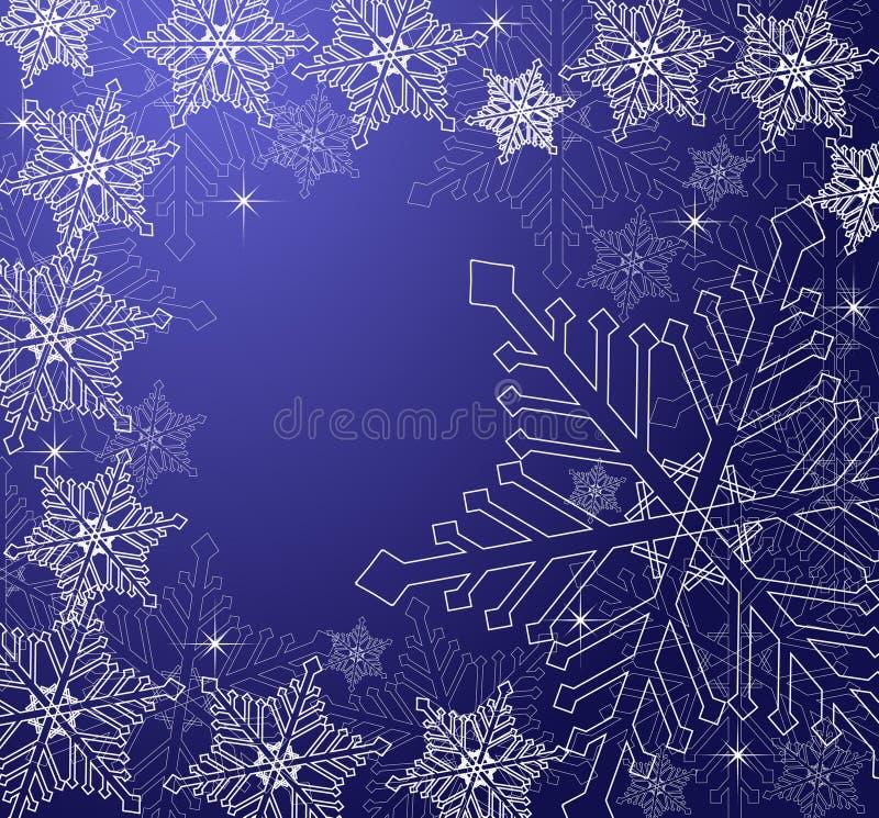 Christmas Snowflakes Background stock illustration