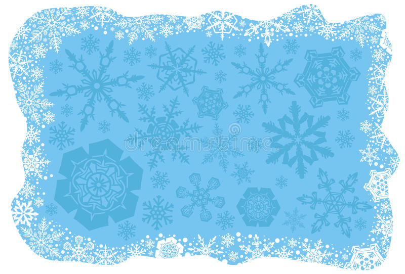 Christmas Snowflakes Background Stock Images