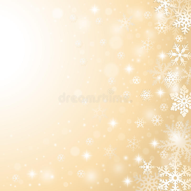 Christmas snowflakes background royalty free illustration