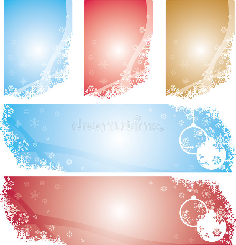 Download Christmas Snowflakes Banners Stock Photography - Image: 7145332