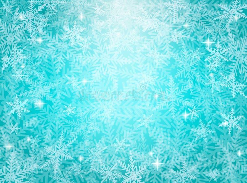 Christmas snowflakes on blue background stock image