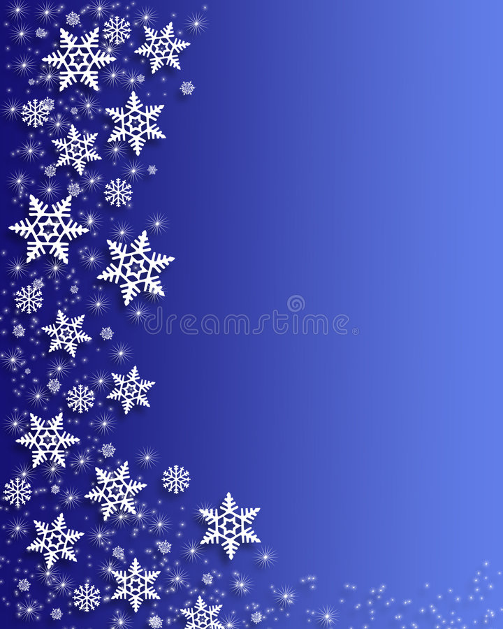 Christmas Snowflakes border vector illustration