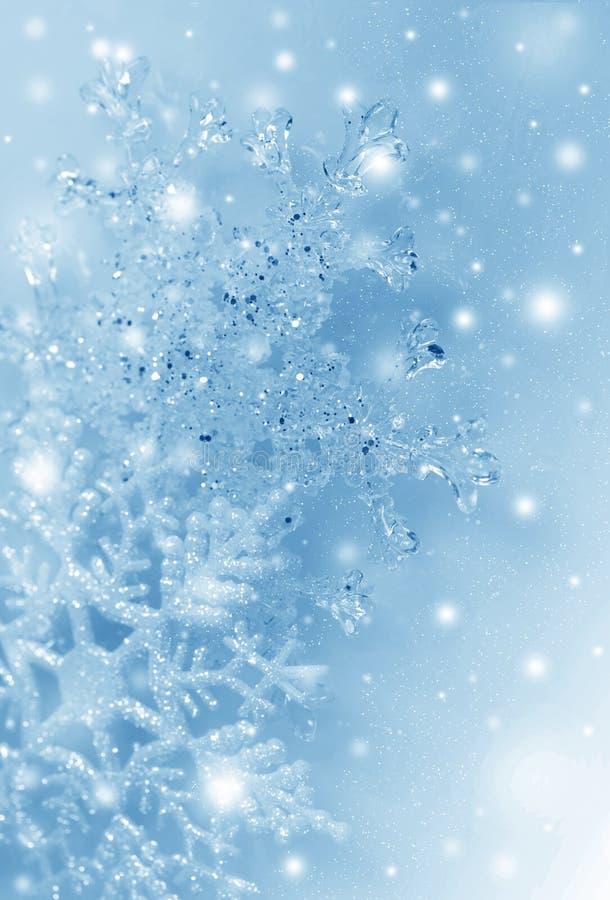 Christmas snowflakes stock photo