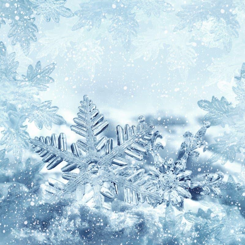 Christmas snowflakes in frame royalty free stock photo