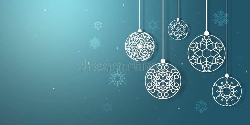 Christmas snowflakes hanging - Cristmas and New Year holidays - holiday tree decoration royalty free stock photos