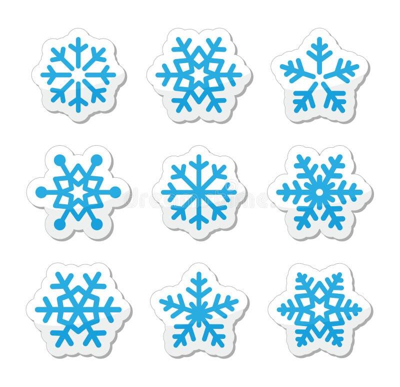 Download Christmas Snowflakes Icons Set Stock Illustration - Illustration of black, december: 27052395