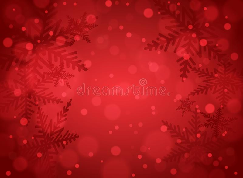 Christmas snowflakes on red background stock image