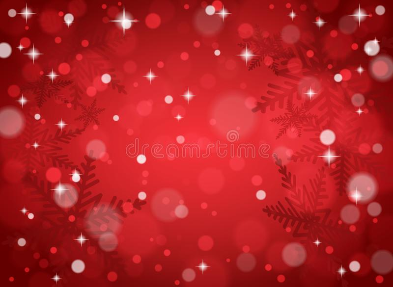 Christmas snowflakes on red background royalty free stock photography