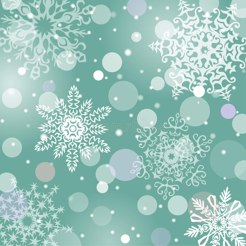 Free Christmas Snowflakes Vector Background Royalty Free Stock Photo - 35897585