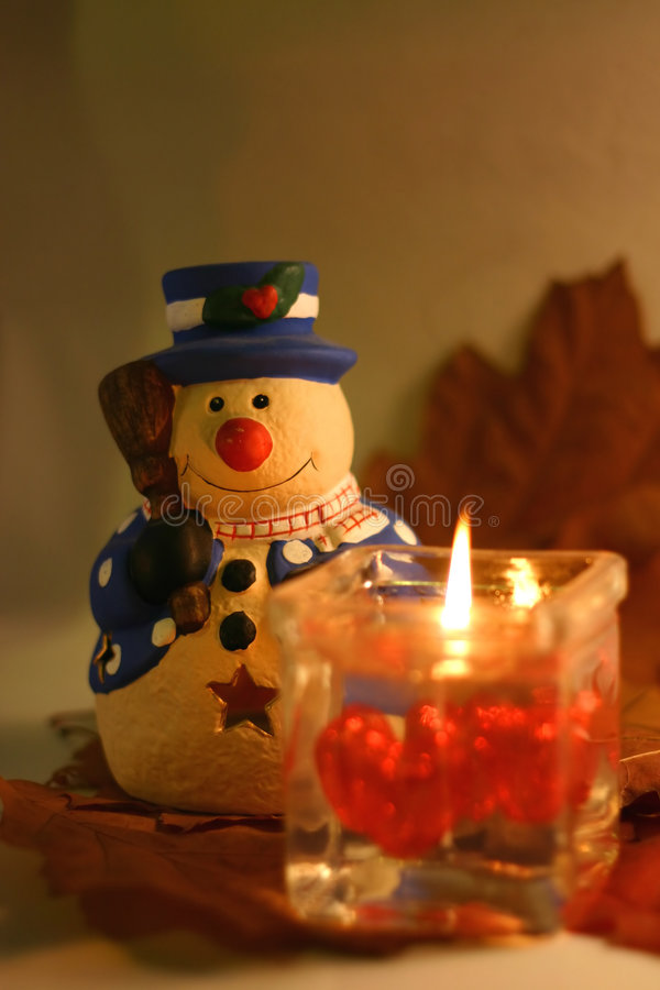 Christmas Snowman royalty free stock image