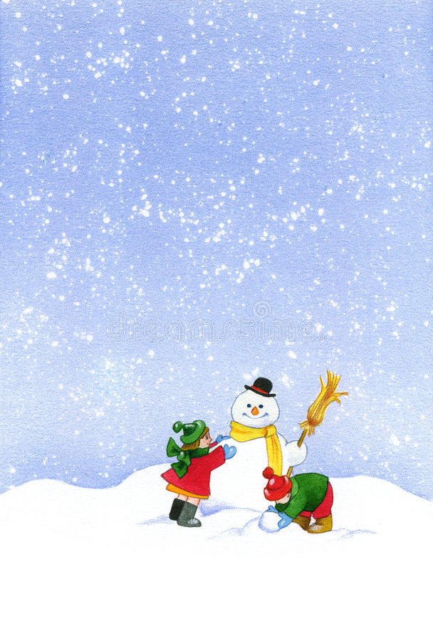 Download Christmas snowman stock illustration. Image of blue, holiday - 7018705