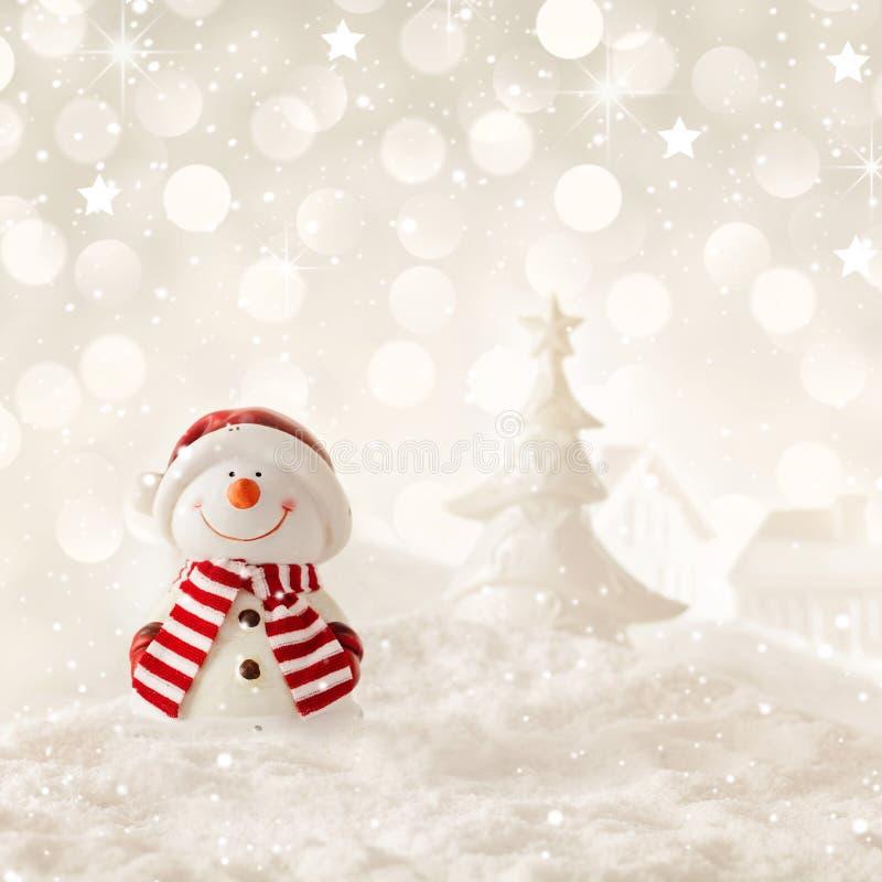 Christmas snowman stock image
