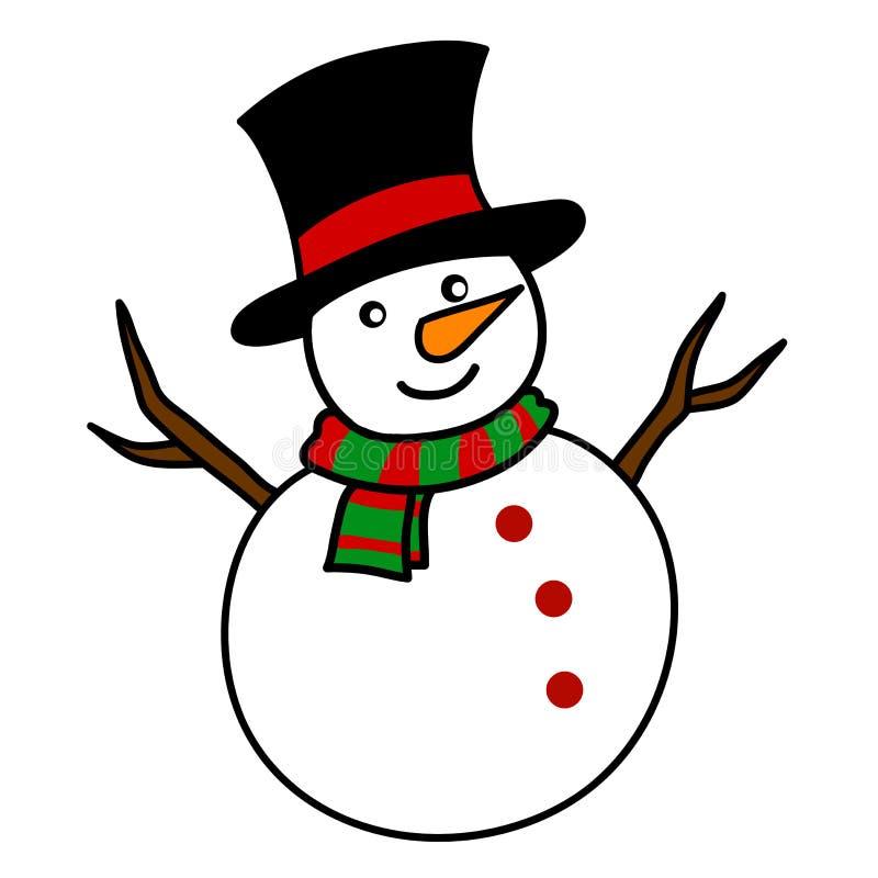 christmas snowman cartoon stock illustration illustration of rh dreamstime com christmas snowman clip art images christmas snowman hat clipart free