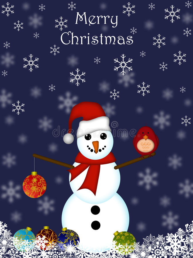 Free Christmas Snowman Hanging Ornament Royalty Free Stock Photography - 17129657