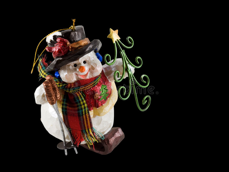 Download Christmas snowman ornament stock photo. Image of black - 6886252