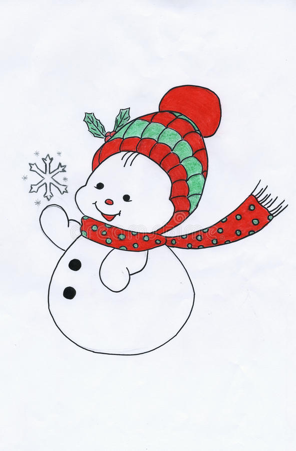 The Christmas snowman stock photo