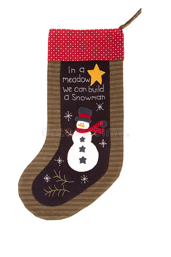 Christmas snowman Stocking stock images