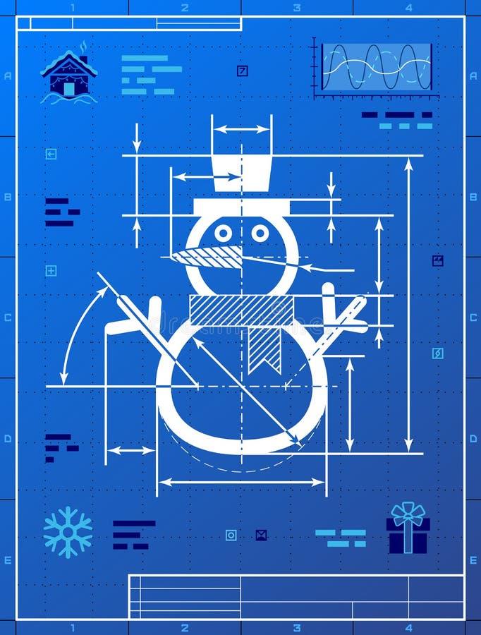 Christmas snowman symbol as blueprint drawing stock vector download christmas snowman symbol as blueprint drawing stock vector illustration of research christmas malvernweather Choice Image