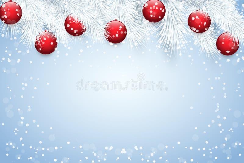Christmas snowy background royalty free illustration