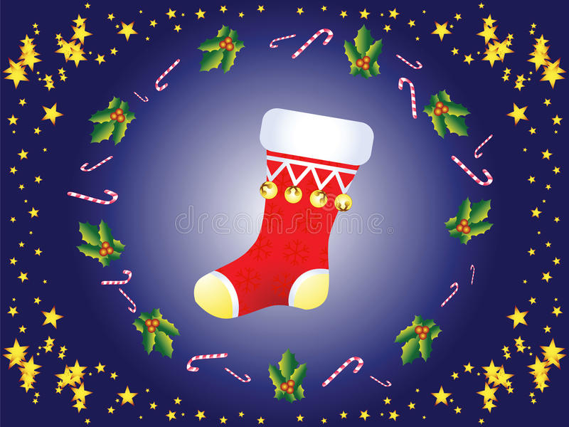 Download Christmas sock stock vector. Illustration of cold, hanging - 12571008