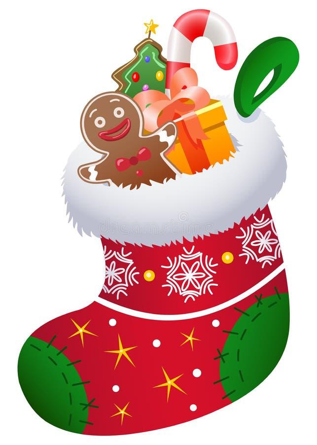 Christmas sock. Illustration of a Christmas sock stock illustration