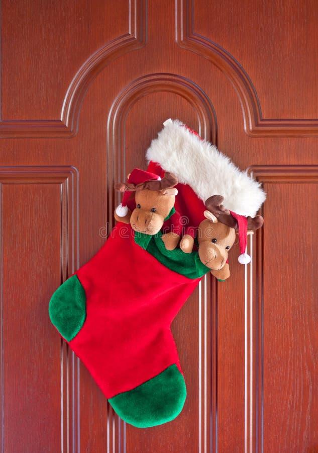 Christmas sock stock image
