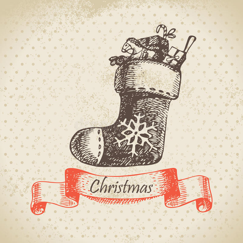 Download Christmas sock stock vector. Image of background, decorative - 27553659