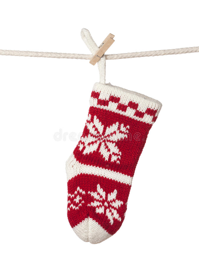 Christmas sock stock images
