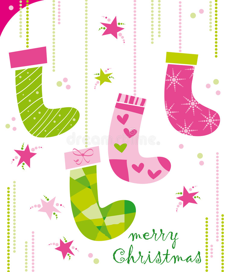 Christmas socks royalty free stock image