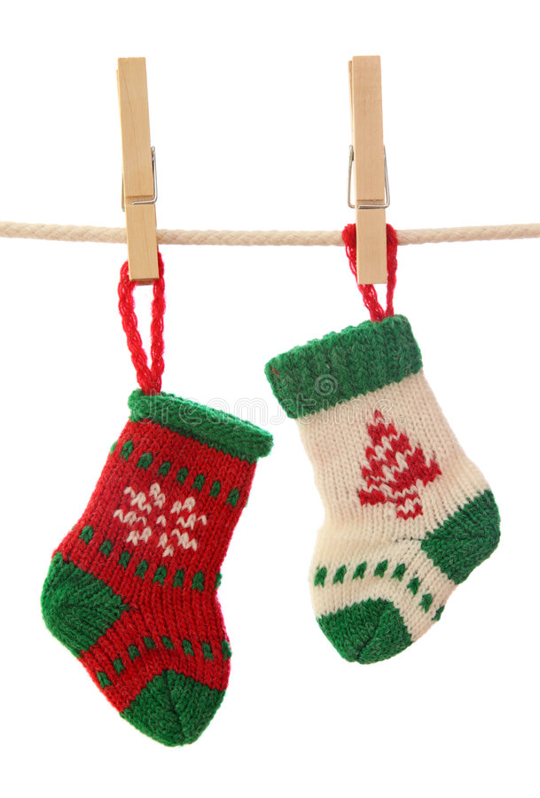 Christmas socks royalty free stock photography