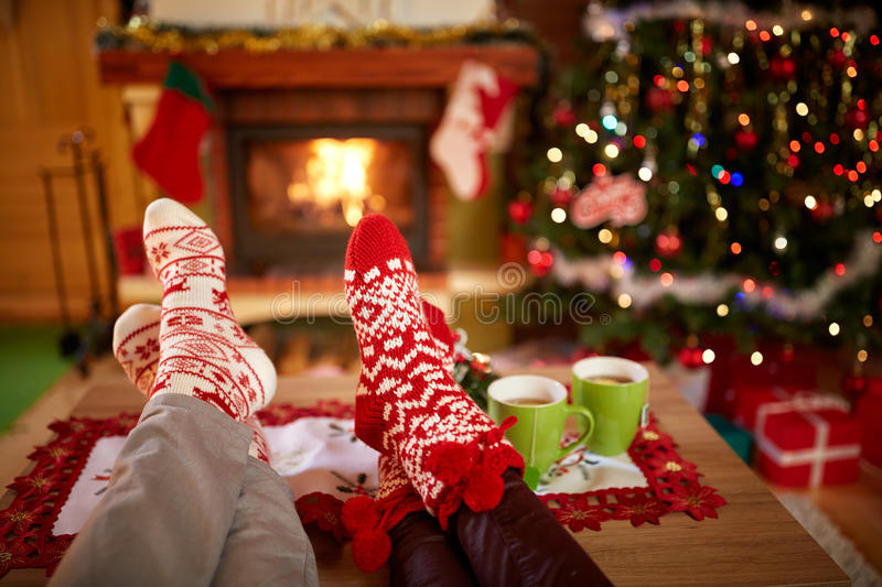 Christmas socks - concept stock photo