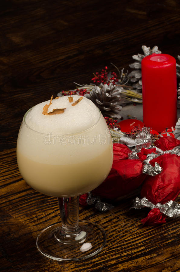 Christmas South American cocktail royalty free stock photo