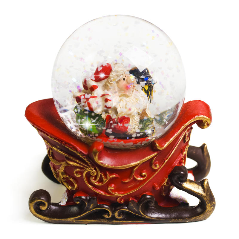 Christmas Souvenir. Closeup on white royalty free stock image