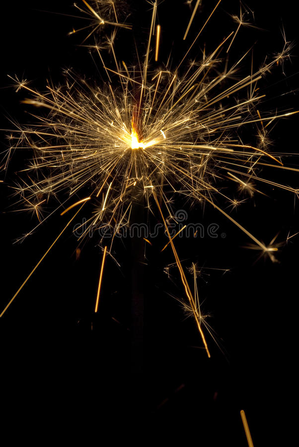 Christmas sparkle. Sparkle - christmas fire works on black background stock image