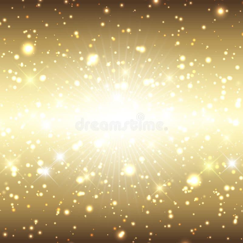 Christmas sparkle background stock illustration