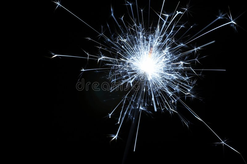 Christmas sparkler. Christmas and new year sparkler stock photography