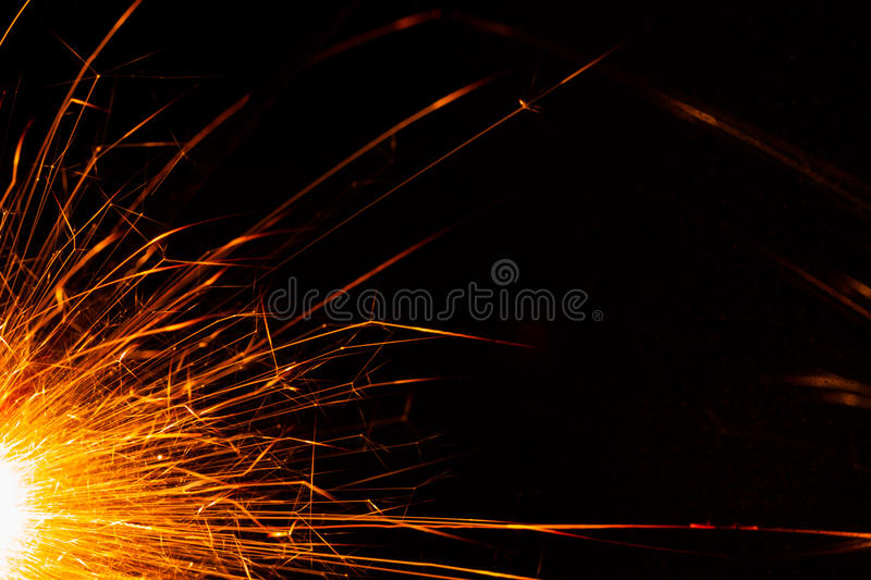 Christmas sparkler. Backdrop with copy-space stock image